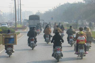 Photo of motorcycle traffic