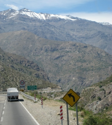 Mountain road in Chile