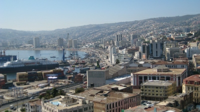 Panorama of Valparaiso from the Yellow House