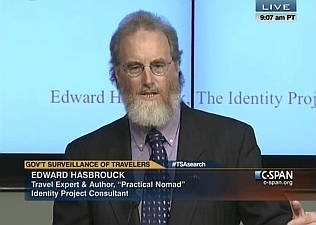 Edward Hasbrouck live on C-SPAN