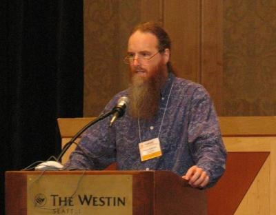 Photo of Edward Hasbrouck at CFP 2005