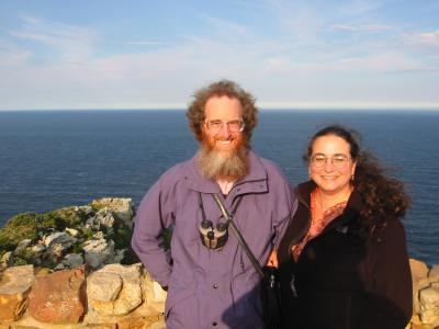 Edward Hasbrouck and Ruth Radetsky at the Cape of Good Hope