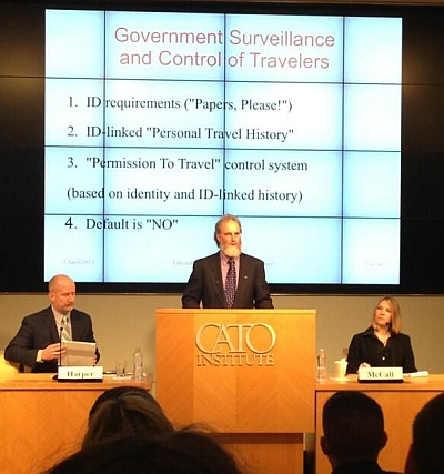 Edward Hasbrouck on C-SPAN at the Cato Institute