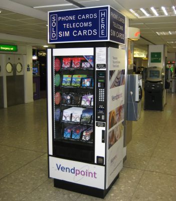 SIM card vending machine